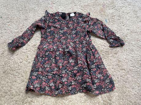 Mango Kids sukienka dla dziewczynki MNG baby 98 w kwiaty floral boho