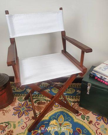 Antiga cadeira de Realizador em Madeira,Vintage
