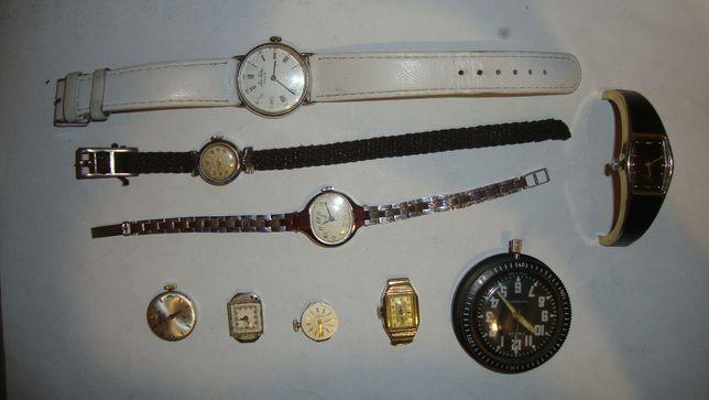 Zegarki mechaniczne 9 sztuk i elektronicznych 5 sztuk