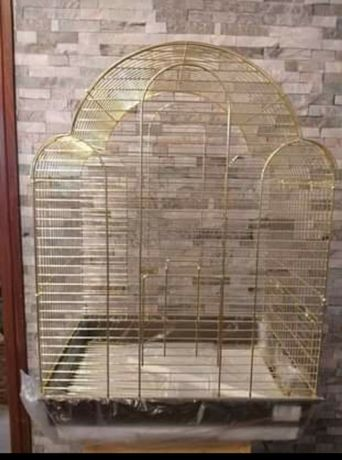 Gaiola de cupula dourada 42×30×57cms