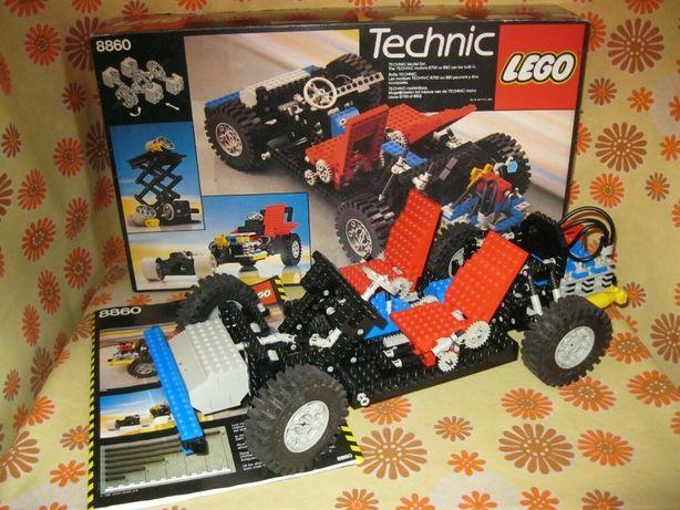 Lego Technic 8860 Car Chassis unikat 1980 komplet kolekcjonerski
