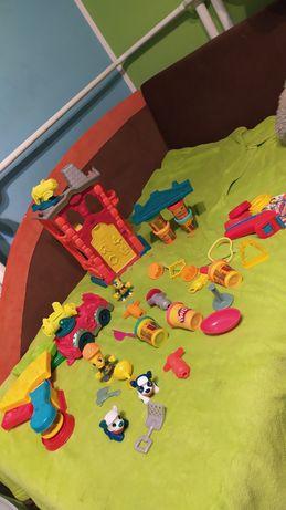 Play doh zestaw remiza strażacka+wóz strażacki+ nowe ciastoliny