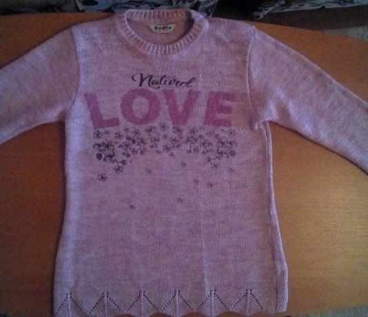 Тепла кофта светр на дівчинку 9-10р.(146р)