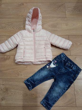 Zestaw 74 kurtka jeansy spodnie