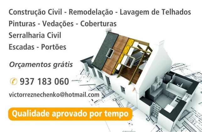 Construções/Pinturas/Remodelações/Serralharia/Pladur