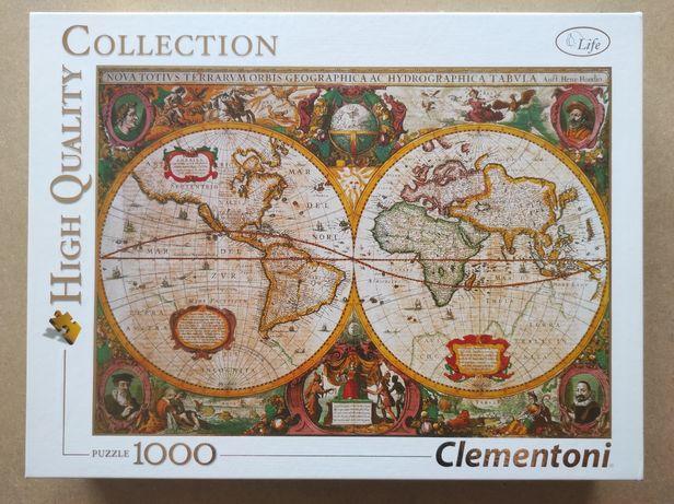 Puzzle 1000, Clementoni, Antyczna mapa