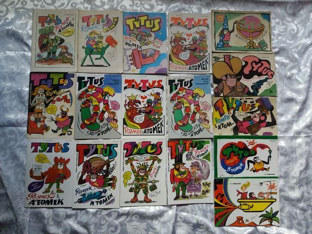 Tytus Romek i Atomek 17 sztuk nowe oraz od 1985r.