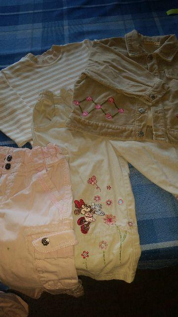 zestaw dla dziewczynki 92 cm_1 para spodni gratis