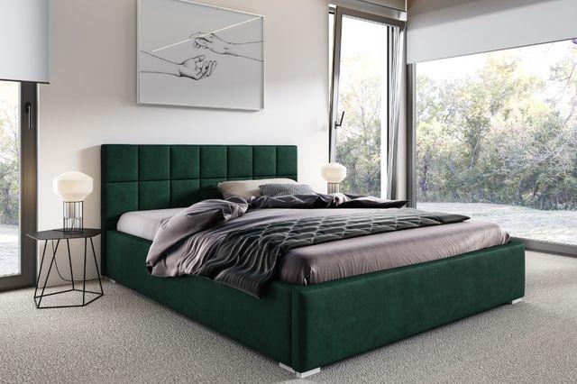 Łóżko tapicerowane SANTIAGO , pojemnik i materac