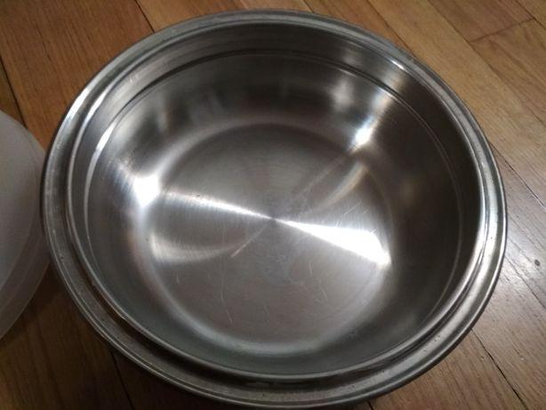 Miska stalowa z przykrywką