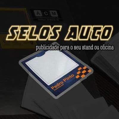 Vinhetas para Selos com a sua Publicidade - Auto - Stands / Oficina