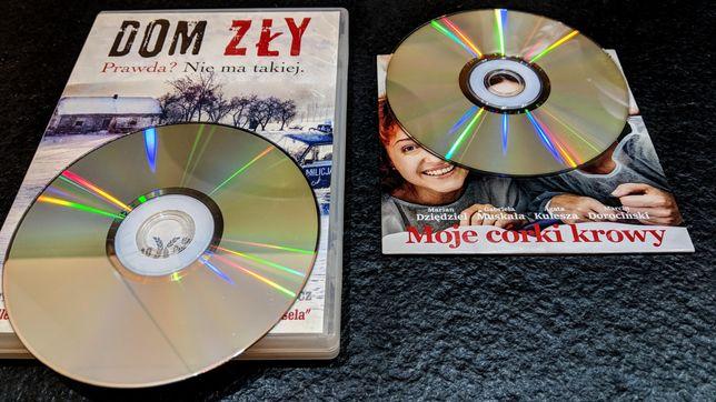 Filmy DVD: Dom Zły i Moje córki krowy