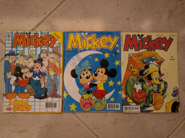 Mickey livros de banda desenhada