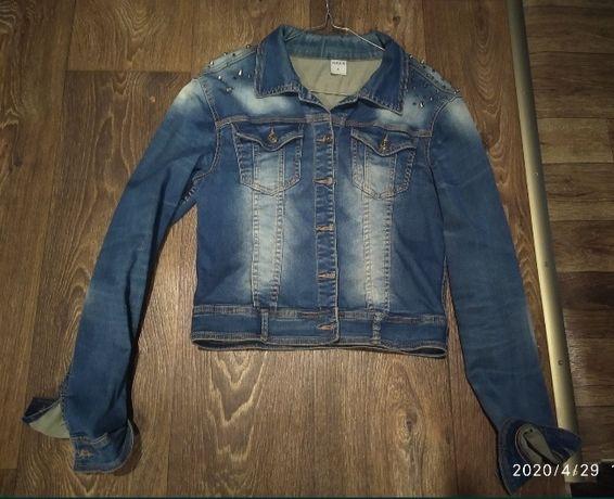 Джинсовая куртка курточка пиджак джинсовка 44-46 р