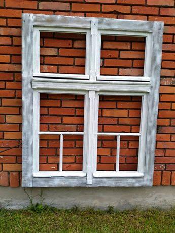 Stare drewniane okno secesja vintage