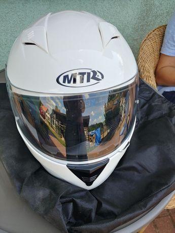 Kask motocyklowy MTR biały jak nowy