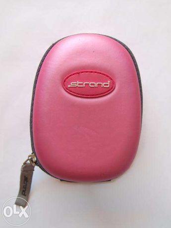 Różowo-szary pokrowiec etui na aparat fotograficzny Strand usztywniany