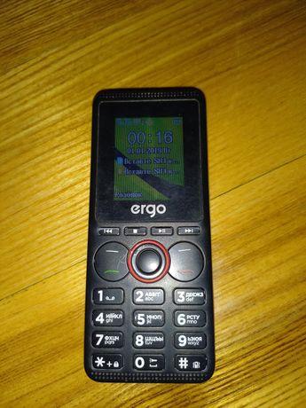 Телефон кнопочний чорний Ergo
