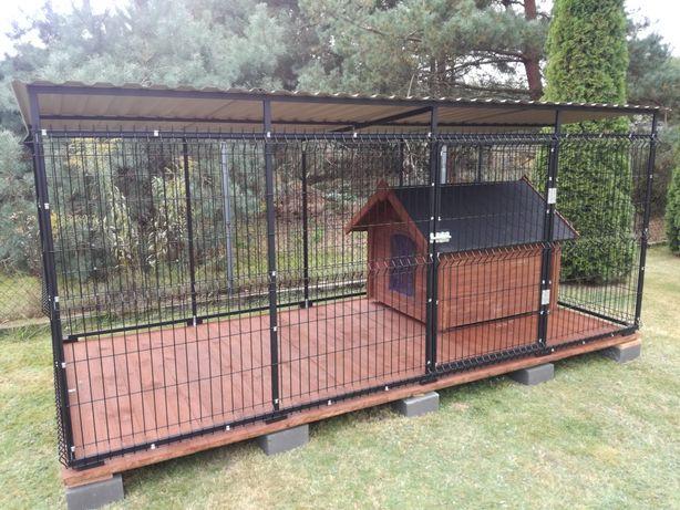 Kojec dla psa 3x2m Buda Kojce Budy Ocieplane Boksy Panelowe Stalowe