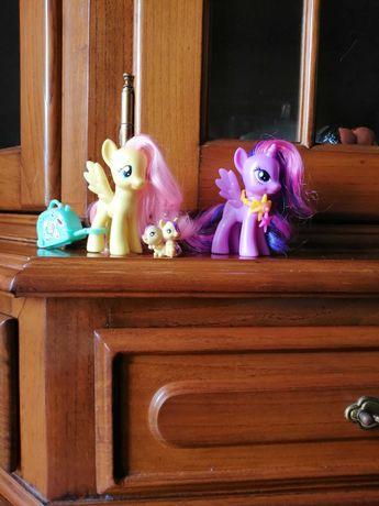 Figuras My Little Pony - Fluttershy e Twilight Sparkle