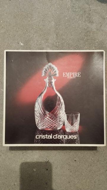 Garrafa com 6 copos - Cristal D'arques (Novo)