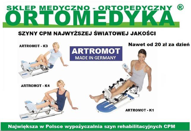 Wypożyczalnia szyn CPM - ARTROMOT Częstochowa - Ortomedyka.pl