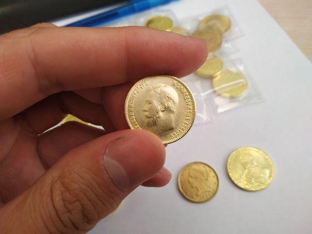 Акция. Распродажа. Золотая монета Николая 2