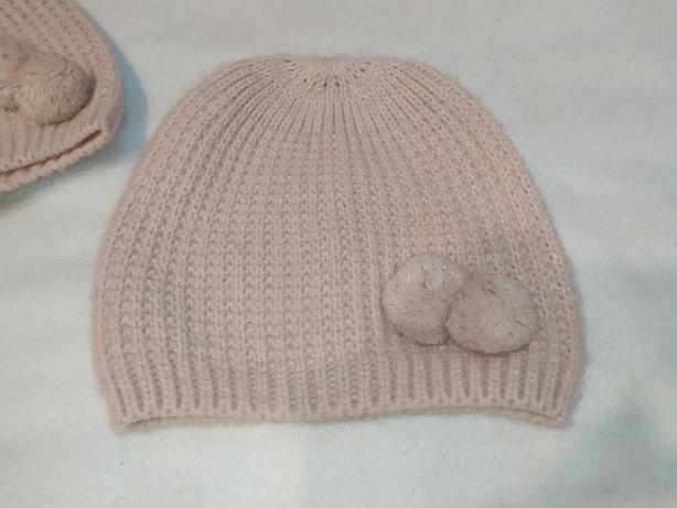 Czapka czapki czapeczki dla bliźniaczek h&m rozm. 92/104