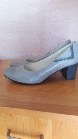 Czółenka buty ze skóry skórzane