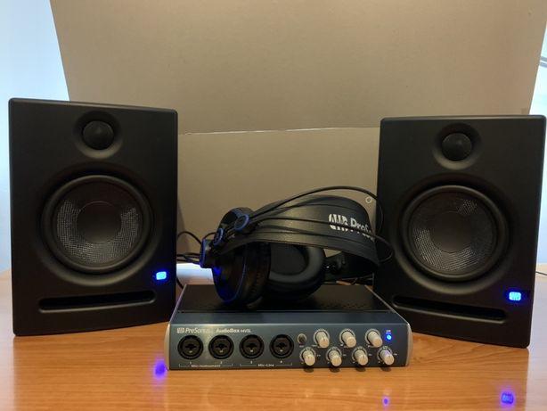 Presonus Audiobox 44vsl inerfejs audio,słuchawki HD7,monitory Eris E5