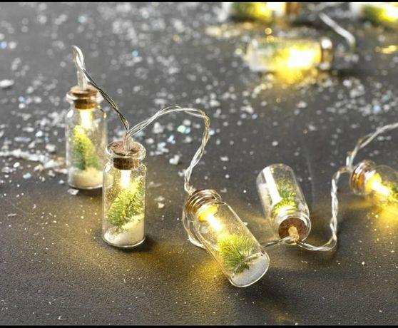 Безопасная новогодняя гирлянда лед/led 10,новорічна гірлянда декор
