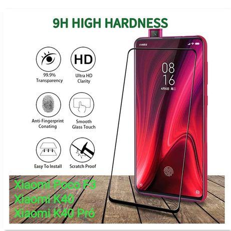 Película Vidro Temperado 9H Xiaomi Poco F3 / Redmi K40 / Redmi K40 Pro