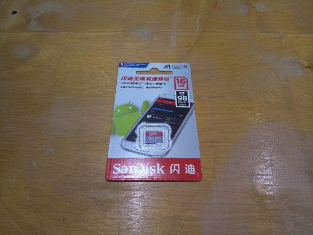 SanDisk Ultra A1 оригинальная новая карта памяти microSDHC на 16 Гб