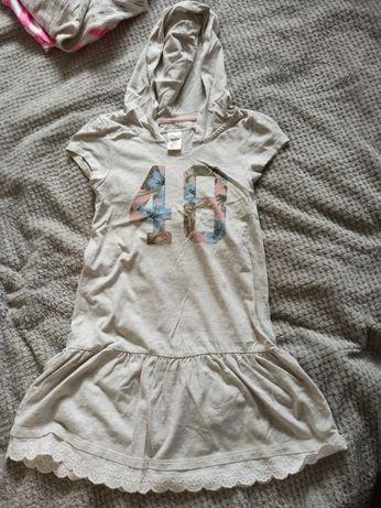 Sukienka z kapturem H&M rozm. 122/128