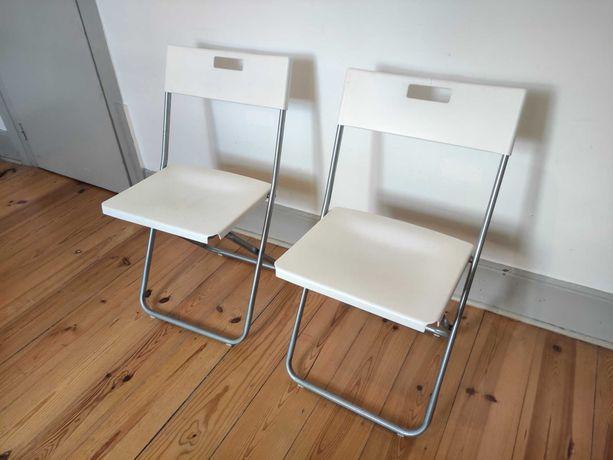 2 cadeiras dobráveis IKEA