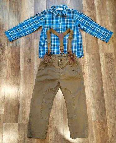 Koszula H&M r. 98 + spodnie Reserved r. 98