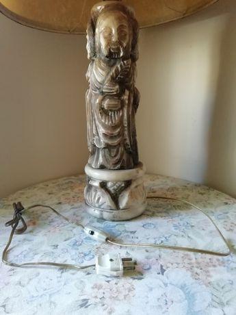 Antiga escultura/candeeiro de mesa em pedra [raro!]