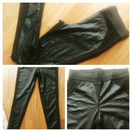 Spodnie woskowane woskowe matowe New Look S / 36 rurki legginsy