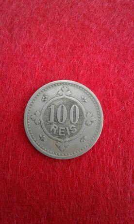 Moeda Antiga 100 Réis 1900