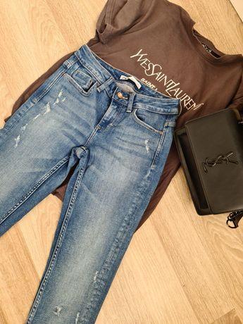 Spodnie dżinsy rurki ZARA