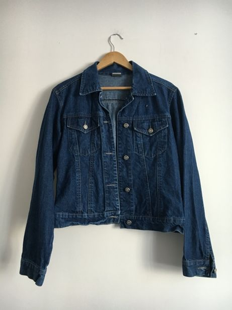 Klasyczna kurtka jeansowa ciemny jeans idealna Goby