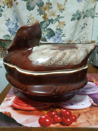 Утятница глиняная