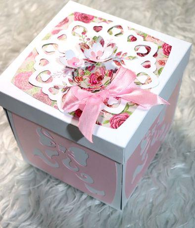box exploding, zyczenia z okazji narodzin, chrztu dla dziewczynki
