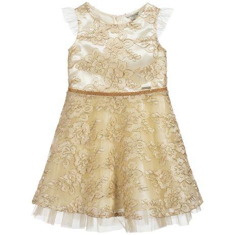 Nowa balowa sukienka Guess, złota, koronki, 4 lata