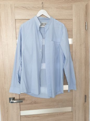 Błękitna koszula french kick