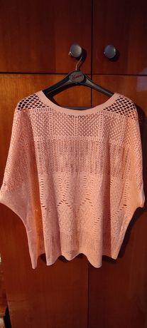 ażurowa pomarańczowa bluzeczka oversize