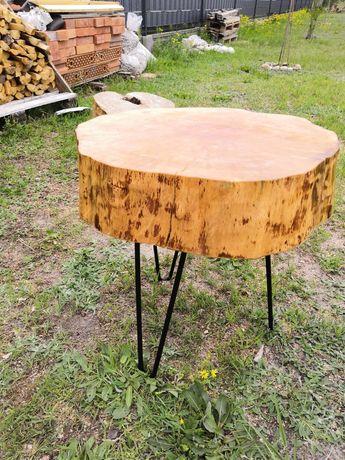 Stolik kawowy z drzewa