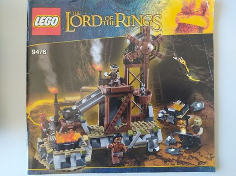 Lego Hobbit/Lord of the Rings 9476 The Orc Forge completo com figuras
