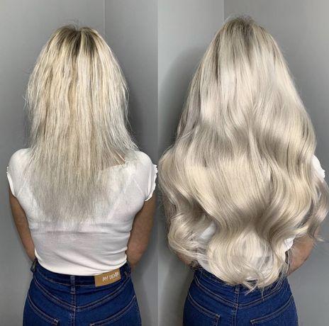 Наращивание волос (микро) акция 800 грн