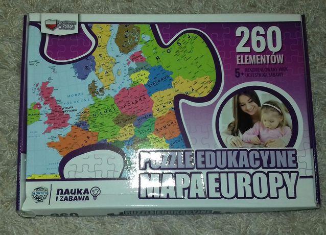 Puzzle Mapa Europy 260